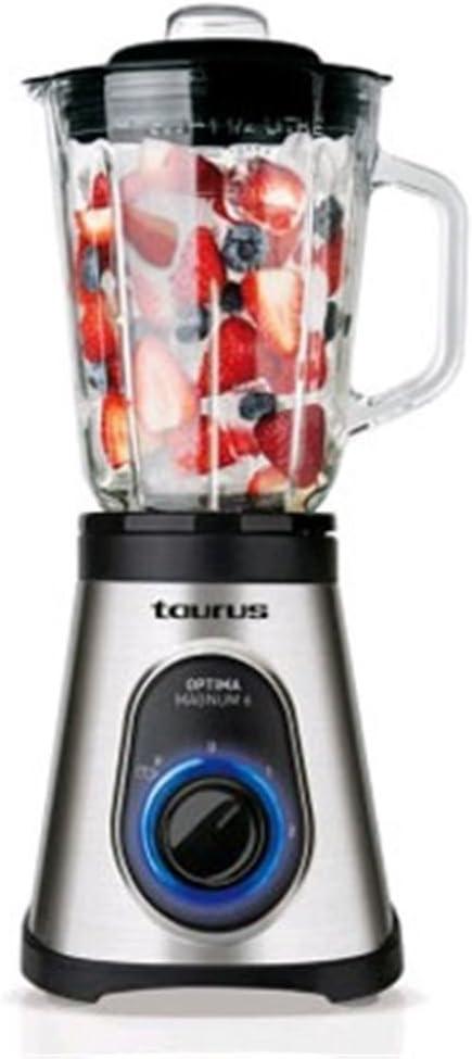 Taurus OPTIMAMAGNUM6 Batidora de vaso, 600 W, Vidrio, 2 ...