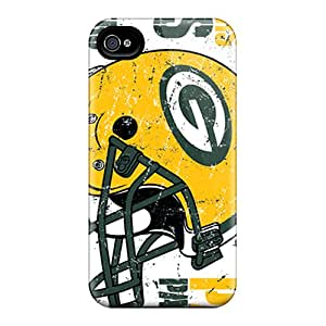Hot Design Premium Ufo7667uBdr Tpu Case Cover Iphone 4/4s Protection Case(green Bay Packers)