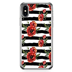 Loud Universe Phone Case Fits iPhone XS Max Transparent Edge Case Black Rose Phone Case Trendy Pattern iPhone XS Max Cover
