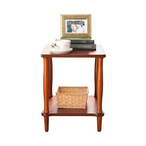 Amazon.com: Mesita de noche de 2 niveles para sofá, mesa ...