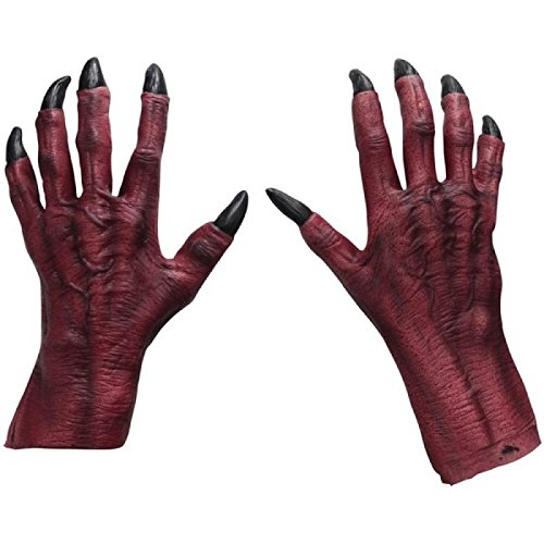 Adult Red Monster Claws Costume Accessory