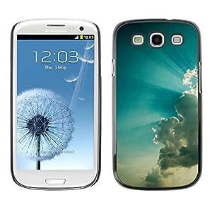 Dragon Case - FOR Samsung Galaxy S3 - Surges of cloud - Caja protectora de pl??stico duro de la cubierta Dise?¡Ào Slim Fit