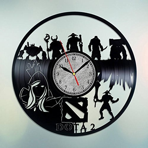 Handmade Vinyl Wall Clock Dota 2 Vinyl Wall Clock Defence of the Ancients Dota Gifts Dota 2 Gift Dota Wall Art Dota Art Dota 2 Art Dota 2 Wall Art Warcraft Gifts