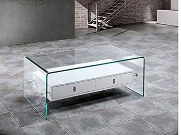 Crespo Decoración Mesa Cristal FLISA: Amazon.es: Hogar