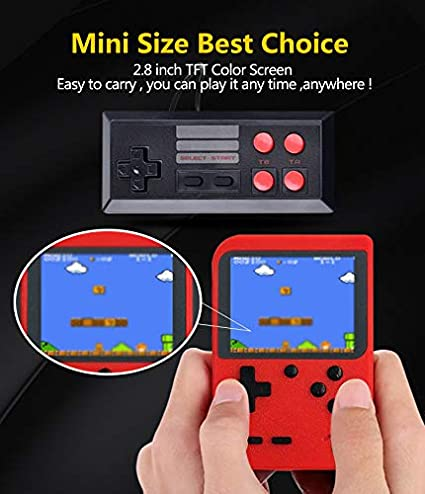 DigitCont Retro Mini Handheld Arcade, Built-in with 400 Classic Games 2 Players Mode Miniature Console Handheld Portable Game Cabinet Machine ...