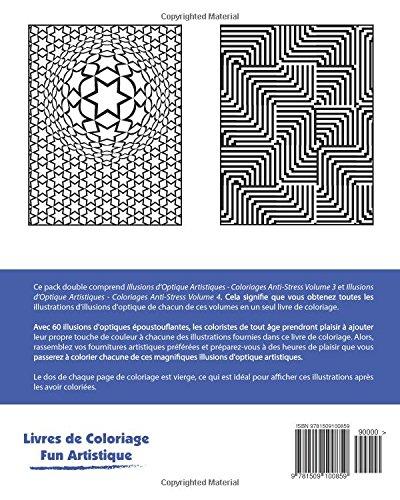 Coloriage Anti Stress Illusion Doptique.Amazon Fr Illusions D Optique Artistiques Coloriages Anti Stress