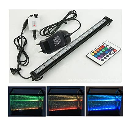 Xcellent Global Cambia color a distancia de 46CM 27 luces LED RGB para acuario Sumergible impermeable