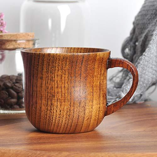 Clothful  Natural Wooden Cup Wood Coffee Tea Beer Juice Milk Water Mug - Shirt Long Show Sleeve Elegance