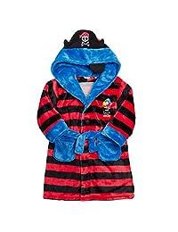 MINIKIDZ Boys Jolly Roger Pirate Themed Dressing Robe (Ages 2-6)