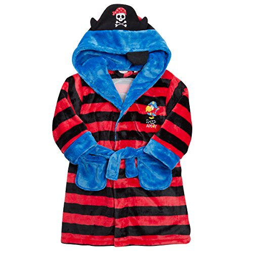 MINIKIDZ Boys Jolly Roger Pirate Themed Dressing Robe (Ages 2-6)