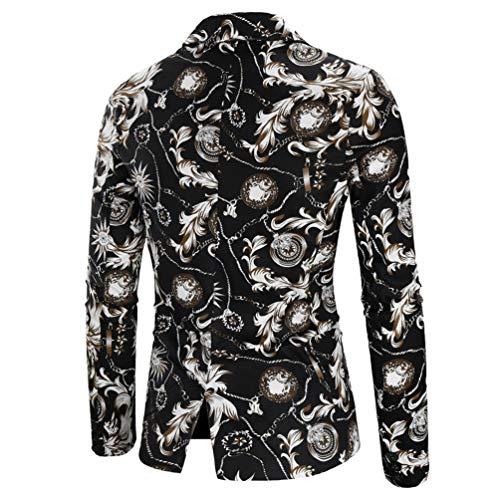 Hombres Otoño Boton Los De Para Hombre Blazers Color Traje Hombre Un Invierno Casual Picture Traje Moda txqYAwBF