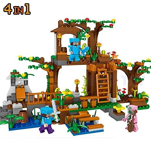 Best choise product minecrafted City Figures Building Blocks Tree Village Compatible legoinglys Gift for Kids Friends My Mine World 4in1