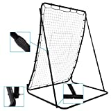 Portable Multi-Sport 44 x 64inch Baseball and Softball Rebounder Pitch Back Training Screen(US Stock)