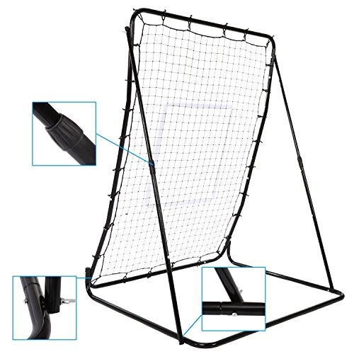 Portable Multi-Sport 44 x 64inch Baseball and Softball Rebounder Pitch Back Training Screen(US Stock) by Ferty