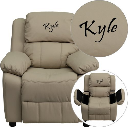 Flash Furniture Personalized Deluxe Kids Recliner