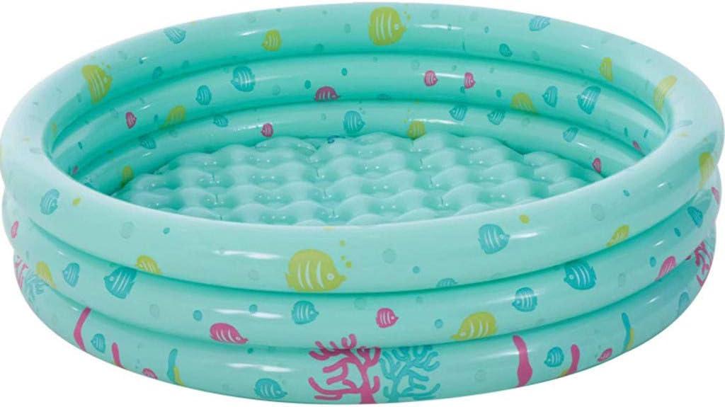 Piscina infantil hinchable redonda rosa para creaturas marinas, piscina hinchable para la fiesta del agua de verano, piscina para bebé de agua, piscina familiar para jardín o parte trasera
