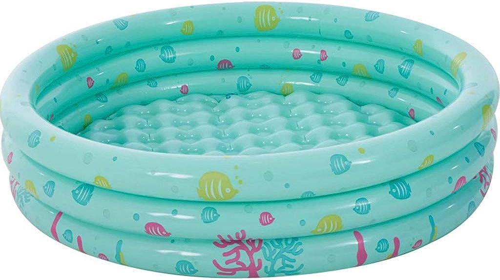 LHWY Verano Piscina Hinchable Infantil Redondas, 130 x 40 CM, Familia Piscinas Desmontables Nadando para Niños Bebé, Pool Inflable Perfecto para Terrazas Jardín Interior Exterior