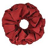 VHC Brands Christmas Holiday Decor - Burlap Round Wreath, Red, 15'' Diameter