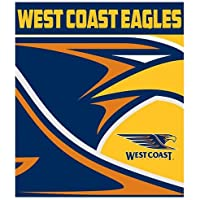 AFL AFL625AO West Coast Eagles Throw Rug, Team Logo
