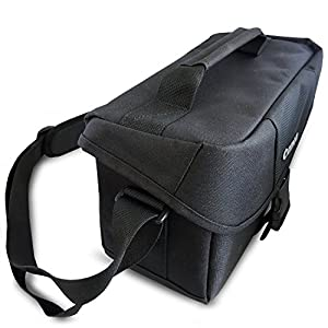 Canon Well Padded Compact Multi Compartment SLR Digital Camera Gadget Bag with Adjustable Shoulder Strap + HeroFiber Ultra Gentle Cleaning Cloth for Canon Digital SLR Cameras by HeroFiber