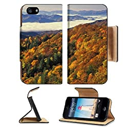 Great Smoky Mountains Nature Scenery Apple iPhone 5 / 5S Flip Cover Case with Card Holder