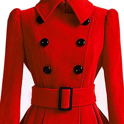 Trench Veste Ceinture Laine Femme Pardessus Hiver Bessky Laine Coat Outwear Chaud Parka Manteau RaUwcHWq