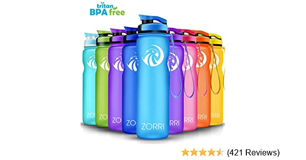 Cycling Camping Hiking Leak Proof Running Best Sports Water Bottle 1L// 1.2 Litre// 600// 800ml Flip Top Lid BPA Free Lightweight Reusable Gym Portable Large Drink Bottles With Filter for Kids