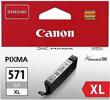Canon CLI-571XL GY Cartucho de tinta original Gris XL para Impresora de Inyeccion de tinta Pixma TS8050-TS8053-TS8052-TS8051-TS9055-TS9050-MG7750-MG77...