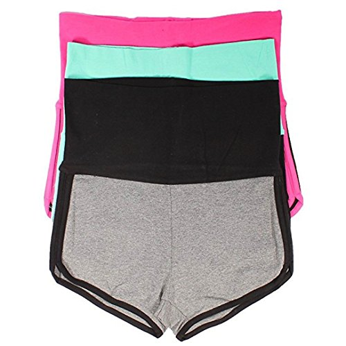Mopas 3 Pack Yoga Two Tone Dolphin Shorts - Tone Dolphin Two