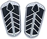 Kuryakyn 5656 Chrome Spear Passenger Floorboard Inserts for 15-'17 Indian Roadmaster & Springfield