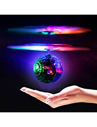 Geekercity Mini Flying RC Drone Helicopter Infrared Induction LED Remote Ball Mini Aircraft Toys for Kids Teenagers Children BOBEBE Online Baby Store From New York to Miami and Los Angeles