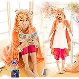 Anime Himouto! Umaru-chan Cosplay Cloak Hoodies Flannel Coat Daily Blanket Quilt N1