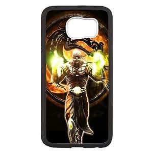 Mortal Kombat Carácter magia del dragón Fuego 21218 Samsung Galaxy S6 caja del teléfono celular funda Negro caja del teléfono celular Funda Cubierta EEECBCAAL70355