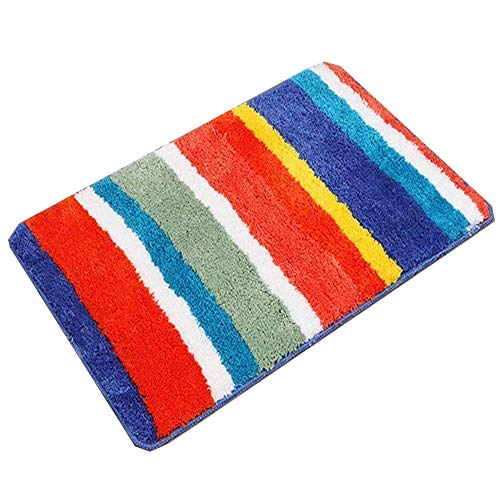HEBE Non Slip Bathroom Shower Rug Soft Microfiber Bath Rugs Floor Mat for Kids Bathroom Absorbent Machine Washable(20