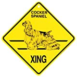 Cocker Spaniel Xing caution Crossing Sign dog Gift