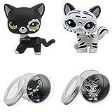 2pcs Littlest Pet Shop Black & White Cat Review and Comparison