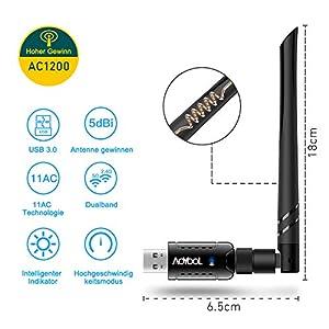 Aoyool WiFi Adapter 1200Mbit/s : Top WIFI Stick!