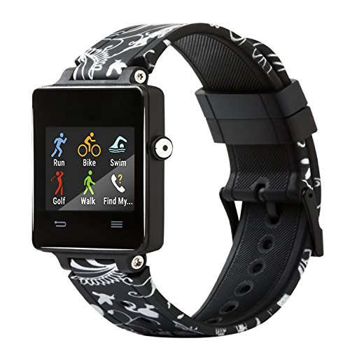 honecumi for Garmin Vivoactive Band, Silicone Garmin Vivoactive Replacement Watch Band for Women & Men(Not Applicable Garmin Vivoactive HR No Tracker)