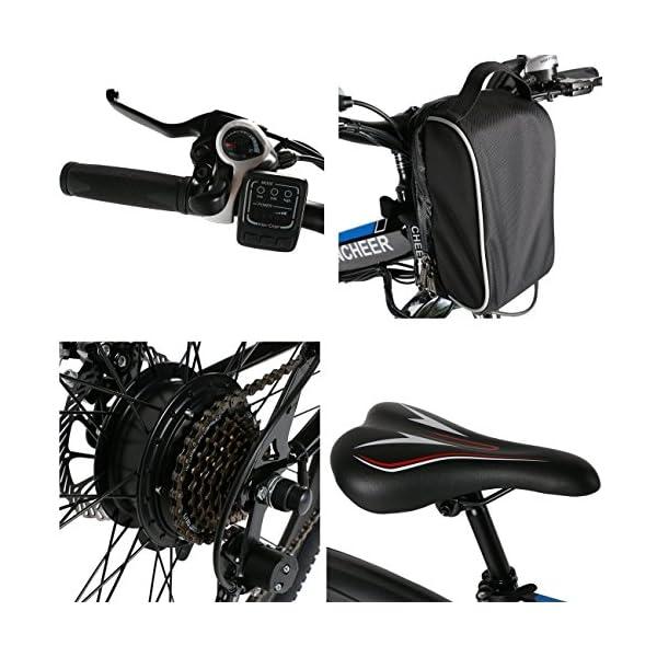 AMDirect Bicicletta da Montagna Elettrica Pieghevole con Ruote di 26 Pollici Batteria Litio di Grande Capacità 36V 250W… 6 spesavip