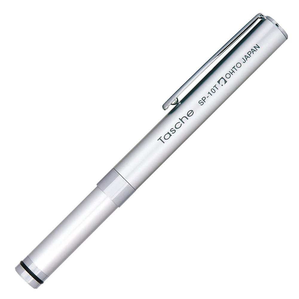 OHTO Mechanical Pencil with Cap Tasche Sharp, 0.5mm, Silver Body (SP-10T-Silver)