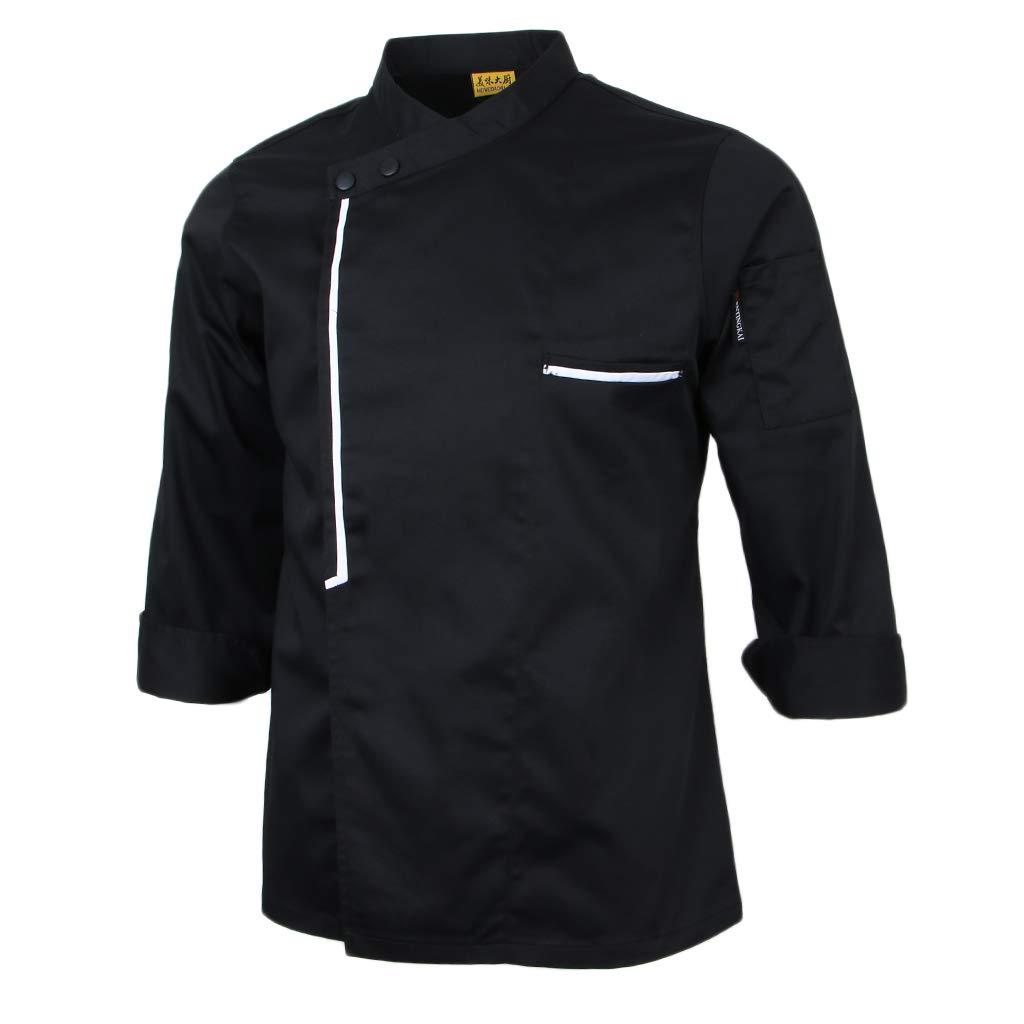 IPOTCH Giacca da Cuoco Retro Manica Lunga Cucina di Hotel Abbigliamento Ospitalit/à Ventilatori di Catering Cucina