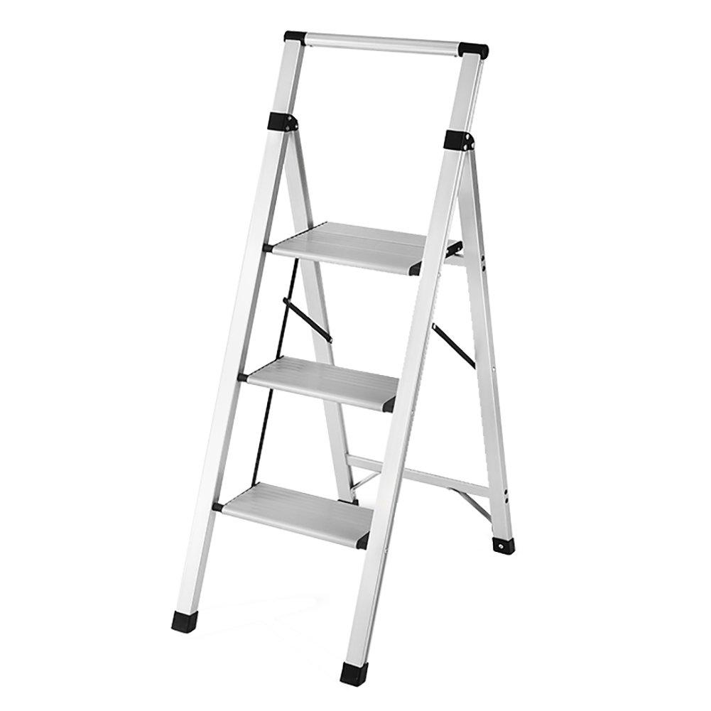 LXF ステップスツール ステップスツールアルミニウム合金3または4ステップラダー厚い多機能折りたたみ居間屋内負荷耐150KG (サイズ さいず : 4 step ladder) B07FPFKS1S 4 step ladder4 step ladder