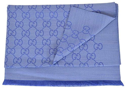 Gucci Women's Large Lightweight Wool Silk GG Guccissima Scarf (Nile (Nile Silk)