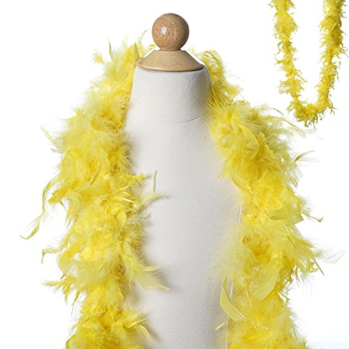BalsaCircle 6 feet Lemon Yellow Large Feathers Boa - Costumes Gifts Dress Up Kids Party Wedding Accessories