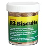 wolfcraft 2995404 Compressed Wafer Shaped Wood Joining Biscuits for Joining Wood Pieces, R3, 90 Piece Jar