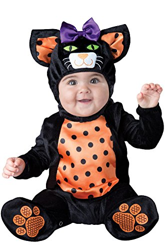 InCharacter Costumes Baby Mini Meow Cat Costume, Black/Orange, Small