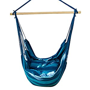 Cctro hanging rope hammock chair swing seat for Indoor hanging rope chair
