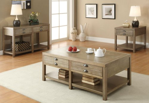 Coaster Occasional Group Casual Light Oak Cottage Sofa Table with Two (Modern Oak Sofa)