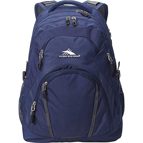 High Sierra Emery Laptop Backpack -17 – S-Shaped And Padded Shoulder Straps with Suspension System