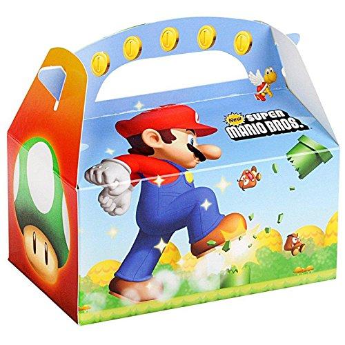 Super Mario Bros Party Supplies - Empty Favor Boxes (4)